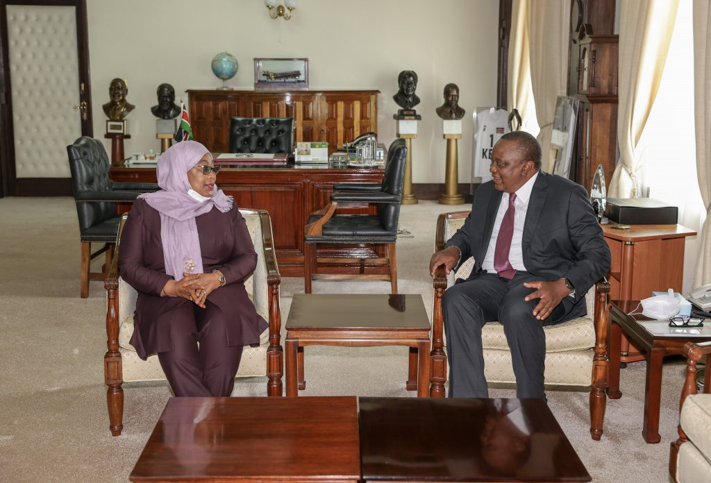 Uhuru and Suluhu agree to improve trade, infrastructure, tourism, and security ties